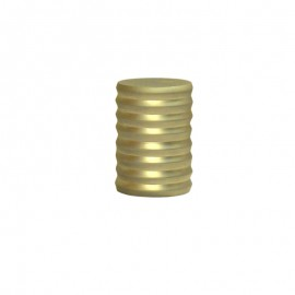 19mm Grooved Cap Finial, Gold