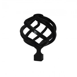 Bee Ball Finial, Ripple Black