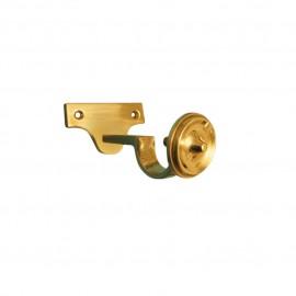25mm Brass Centre Support Bracket, Gold