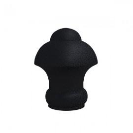 25mm Half Dome Finial, Ripple Black