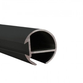 Tubeslider 25, price per metre, Satin Black