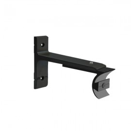 Tubeslider 25, Single Adjustable Bracket, Satin Black