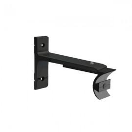 Tubeslider 25, Single Adjustable Bracket, Satin Black