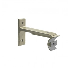 Tubeslider 25, Single Adjustable Bracket, Champagne