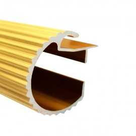 35mm Decotrac Reeded, price per metre, Gold