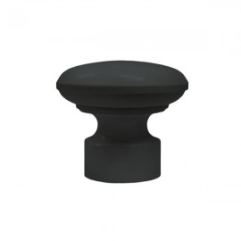 35mm Plastic Disc Finial, Satin Black