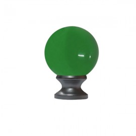 40mm Murano Glass Green Ball with 19mm Satin Stainless Neck