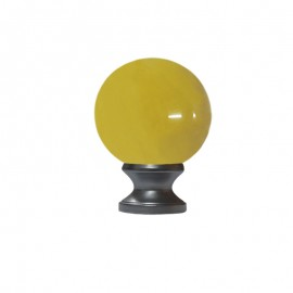 40mm Murano Glass Amber Ball with 19mm Satin Stainless Neck