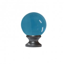 40mm Murano Glass Light Blue Ball with 19mm Satin Stainless Neck
