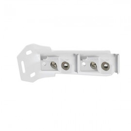 C Track, Double Wall Bracket, 115-140mm projection, White