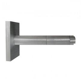 Single Bracket with Large Square Base 105mm projection, Silver