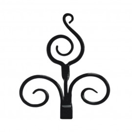 Scrolled Finial, Ripple Black