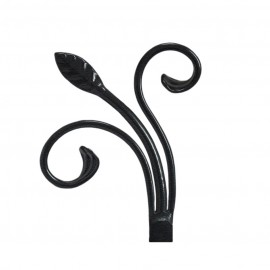 Scrolled Leaf Finial, Ripple Black