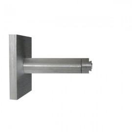 Single Bracket with Large Square Base 70mm Projection Silver