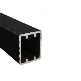 Square Rod, price per metre, Ripple Black