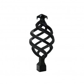 Twisted Finial, Ripple Black
