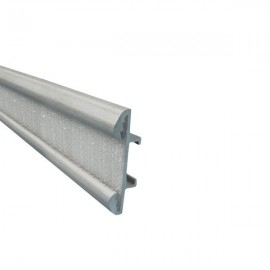 Valance Track with Hook Tape, price per metre, Silver